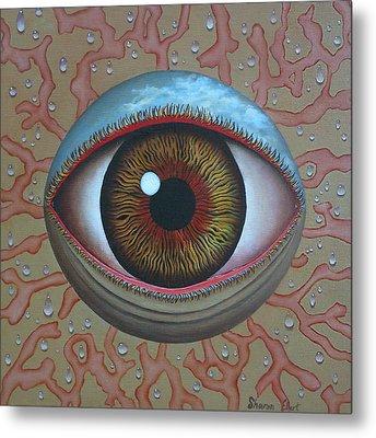 Eye Dew Metal Print by Sharon Ebert