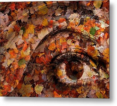 Eye Of Autumn Metal Print by Joe Bonita