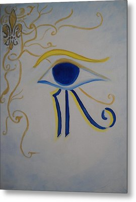 Eye Of Horus Nola Style Metal Print by Marian Hebert