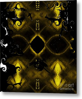 Metal Print featuring the mixed media Eye Of The Beholder 2 by Ayasha Loya