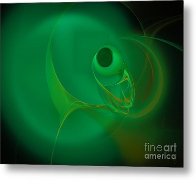 Metal Print featuring the digital art Eye Of The Fish by Victoria Harrington