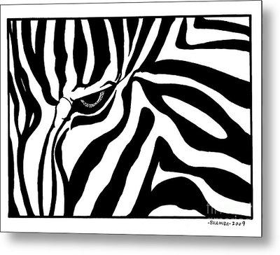 Eye Of The Zebra Metal Print