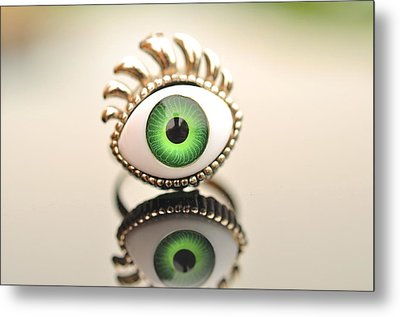 Eye Ring  Metal Print by Puzzles Shum