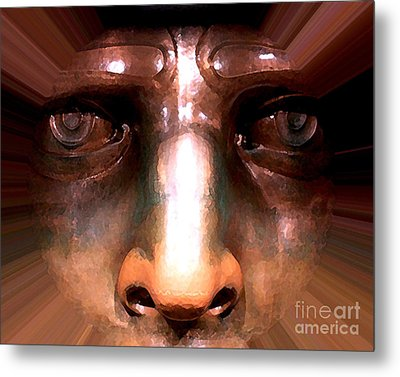 Metal Print featuring the photograph Eyes Of Liberty by Anne Raczkowski