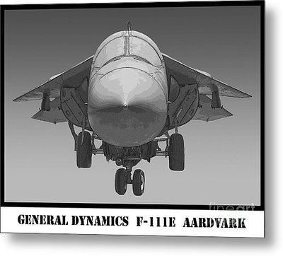 F-111e Aardvark Drawing Metal Print by Tim Mulina