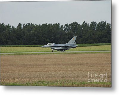 F-16 Of The Belgian Air Force Ready Metal Print by Luc De Jaeger