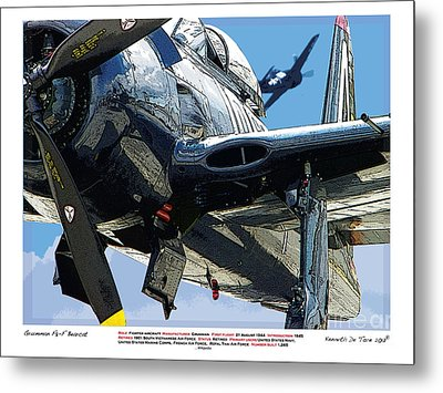 F8-f Bearcat Metal Print by Kenneth De Tore