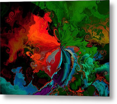 Faa Abstract 3 Invasion Of The Reds Metal Print