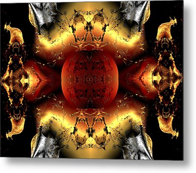 Faa Abstract 4 Metal Print by Claude McCoy