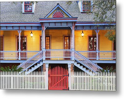 Facade Of Plantation Slave Quarters Metal Print by Jeremy Woodhouse