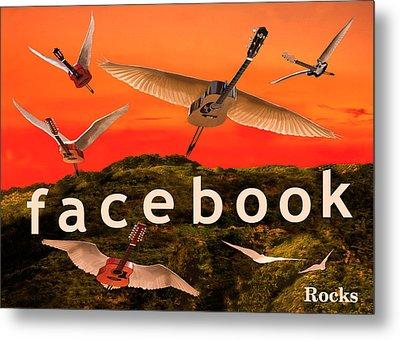 Facebook Rocks Metal Print by Eric Kempson