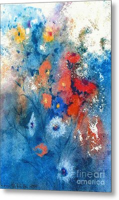 Metal Print featuring the painting Faerie Flowers by Joan Hartenstein