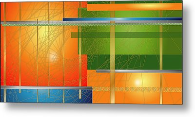 Failing Perspective Limited Edition Metal Print by Robin Lewis