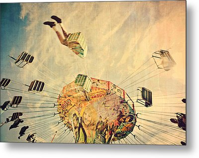 Fairground Attraction Metal Print by Sally Anscombe