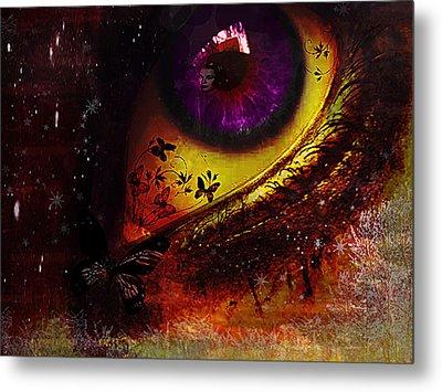 Fairy Eye Metal Print by Yvon van der Wijk
