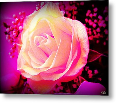 Fairy Rose Metal Print by Michelle Frizzell-Thompson