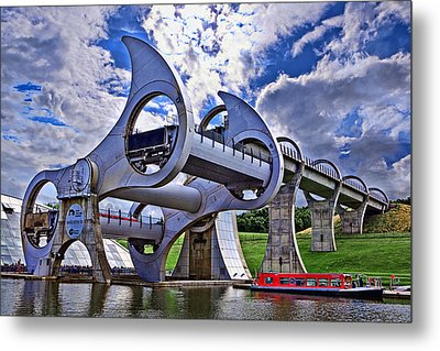 Falkirk Wheel Metal Print by Wendy White