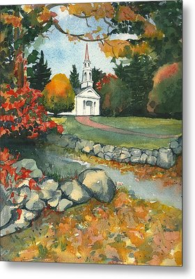 Fall At Martha-mary Chapel - Sudbury Metal Print