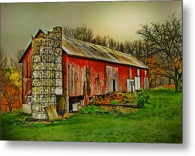 Metal Print featuring the photograph Fall Barn by Mary Timman