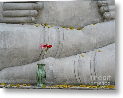 Metal Print featuring the photograph Fall Buddha #1 by Nola Lee Kelsey