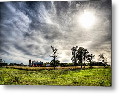 Fall Farm View Metal Print by Dan Crosby