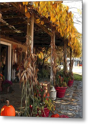 Metal Print featuring the photograph Fall Farmers Market by Anne Raczkowski