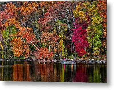 Fall Fishing Metal Print by Boyd Alexander