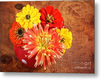 Fall Flower Arrangement Metal Print
