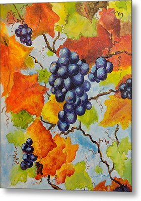 Fall Grapes Metal Print by Carole Powell