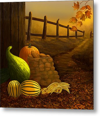 Fall Harvest Metal Print
