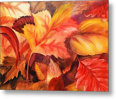 Fall Leaves Metal Print by Irina Sztukowski