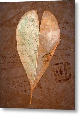 Fall Love Letters Metal Print by Cindy Wright