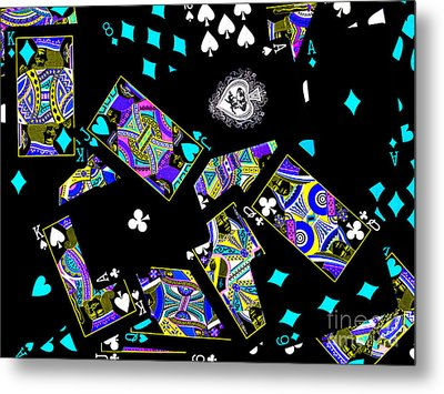 Fall Of The House Of Cards Metal Print by Wingsdomain Art and Photography