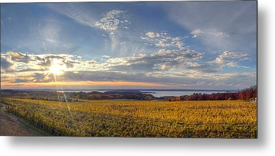 Fall On Old Mission Peninsula Metal Print by Twenty Two North Photography