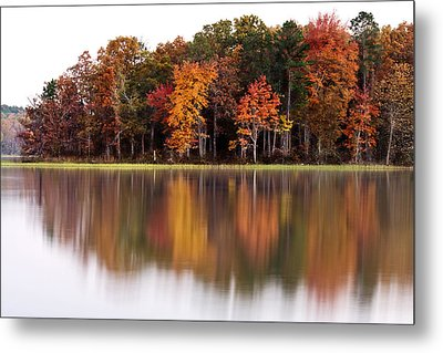 Fall Reflection Metal Print by CWellsPhotography
