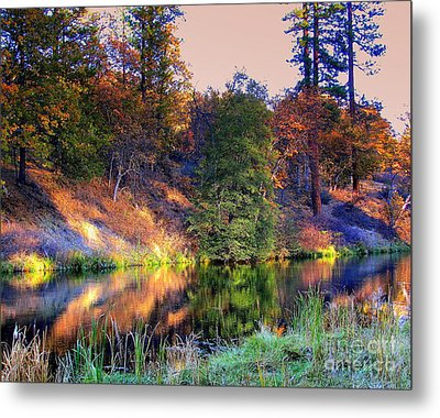 Metal Print featuring the photograph Fall River by Irina Hays