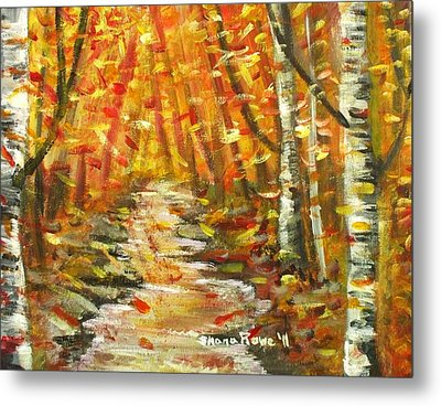 Metal Print featuring the painting Fall by Shana Rowe Jackson