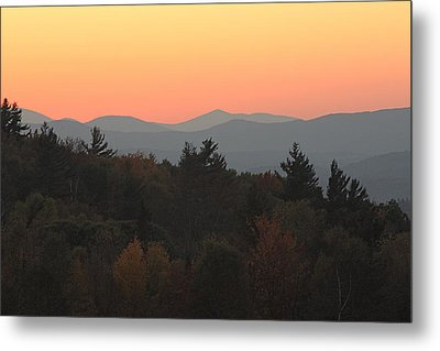 Metal Print featuring the photograph Fall Sky At Sunset by Robin Regan