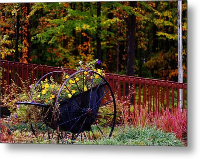 Fall Wagon Metal Print by Kevin Schrader