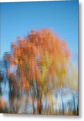 Fall Watercolor - Inverted Metal Print by Mary McAvoy