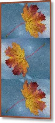 Falling Autumn Leaves Metal Print