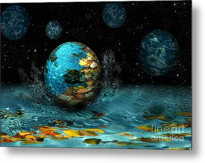 Metal Print featuring the digital art Falling Stars by Rosa Cobos