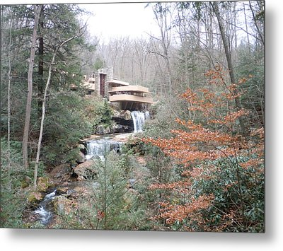 Metal Print featuring the painting Falling Waters Through The Trees by James Guentner