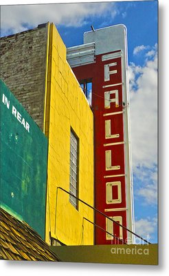 Fallon Nevada Movie Theater Metal Print by Gregory Dyer