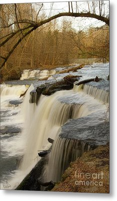 Falls At Old Stone Fort Metal Print by Michael Flood