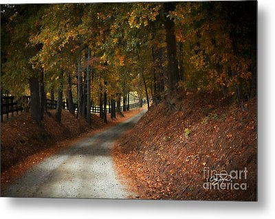 Fall's Fast Arrival Metal Print by Cris Hayes