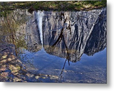 Falls Pool Reflection Metal Print by Garry Gay