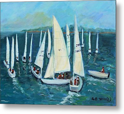 Falmouth Regatta Metal Print by Rita Brown