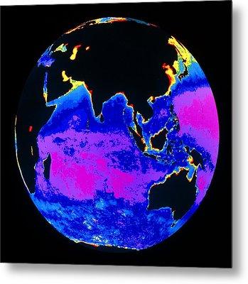 False Colour Image Of The Indian Ocean Metal Print by Dr Gene Feldman, Nasa Gsfc