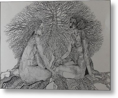 Family Tree Metal Print by Michol Childress